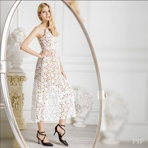 ✨NWOT✨ Wedding Bell White Lace Crochet Midi Dress